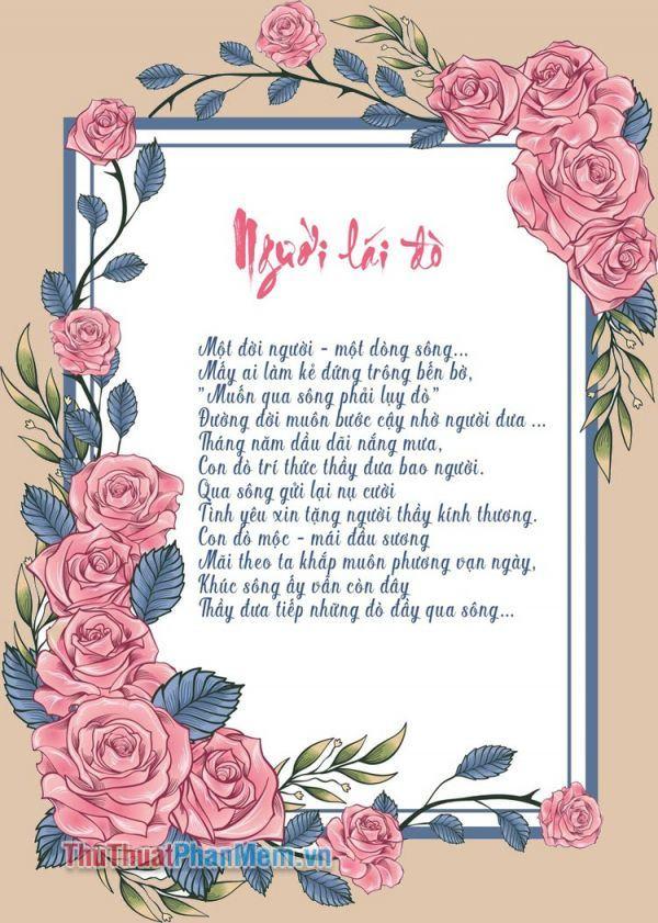 Những bài thơ về thầy cô hay cảm động và chân thành nhất