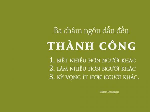 Những châm ngôn thành công hay nhất thay đổi cuộc đời bạn